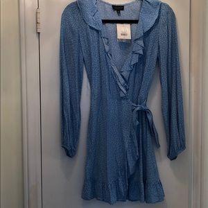 Topshop blue tea dress size 2